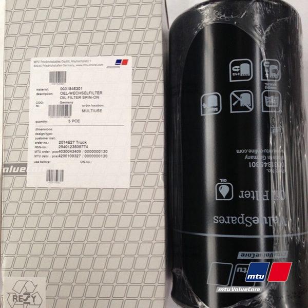 Фильтр масляный MTU 0031845301